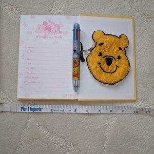 "Disney Bundle ""Pooh journal, ink pen & coin purse"""